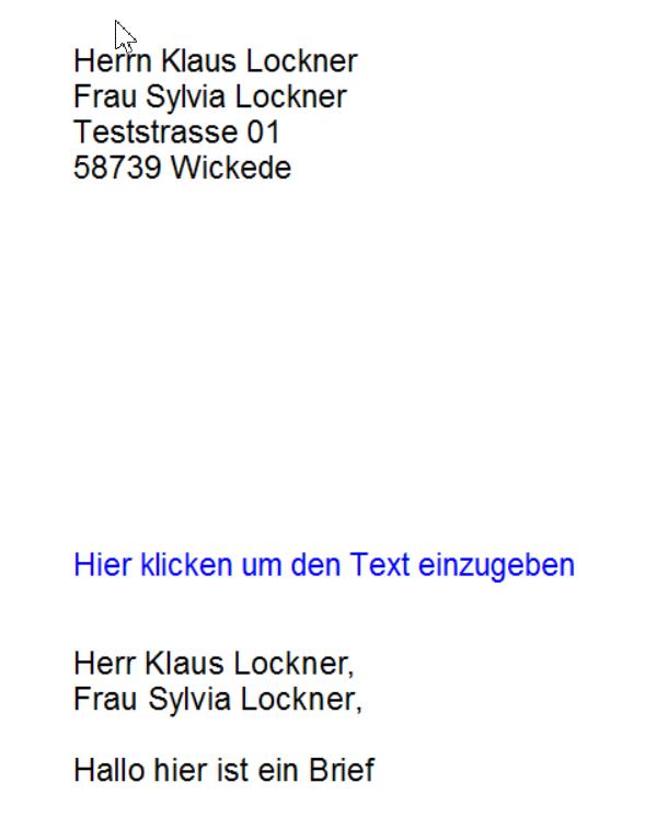 Anrede Frau Und Herr In Anschrift Rechnung Vorlagendesigner